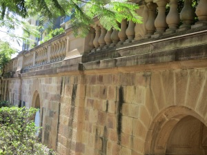 Cathedral wall Fortitude Valley walk