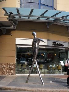 shiny metal sculpture is called Pride